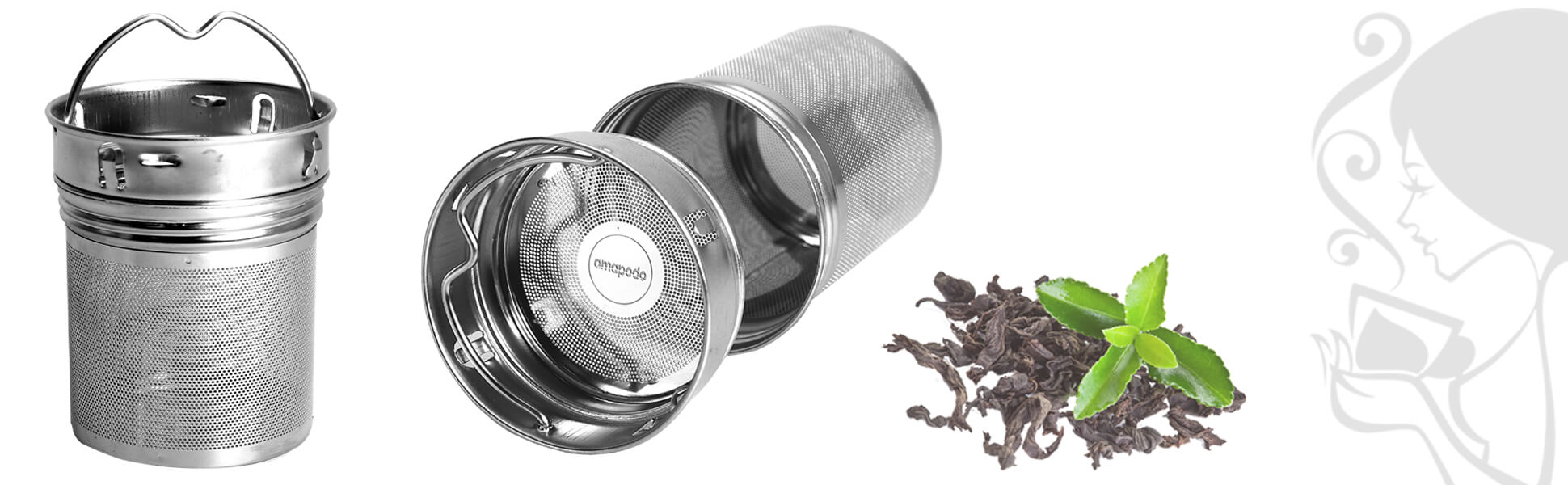Inoxidable filtros de té